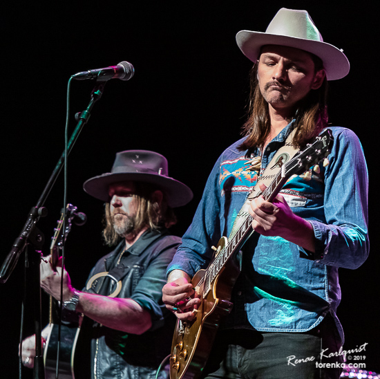 Devon Allman and Duane Betts performing with Allman Betts Band at the Chandler Center for the Arts on May 19, 2019