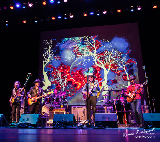 Allman Betts Band on stage at the Chandler Center for the Arts